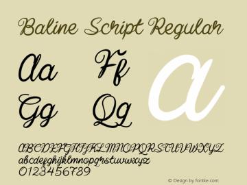 Baline Script Version 1.000图片样张
