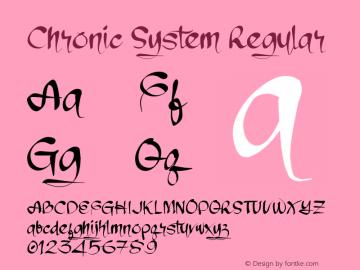 Chronic System Version 1.00;January 16, 2019;FontCreator 11.5.0.2427 32-bit图片样张