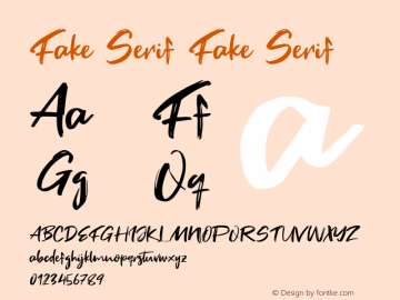 Fake Serif Version 1.000图片样张
