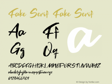 Fake Serif Version 1.000图片样张