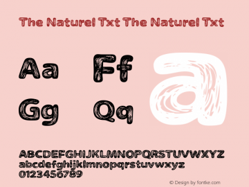 The Naturel Txt Version 1.000图片样张