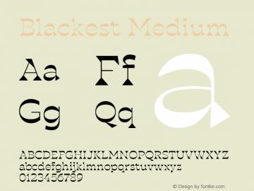 Blackest-Medium Version 1.000图片样张