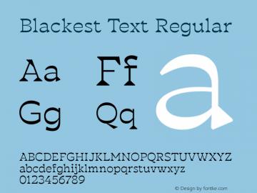 BlackestText-Regular Version 1.000图片样张