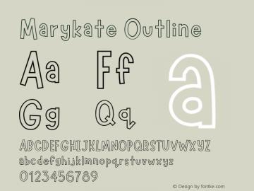 Marykate Outline Version 1.004;Fontself Maker 3.1.1图片样张