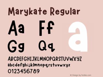 Marykate Version 1.002;Fontself Maker 3.1.1图片样张