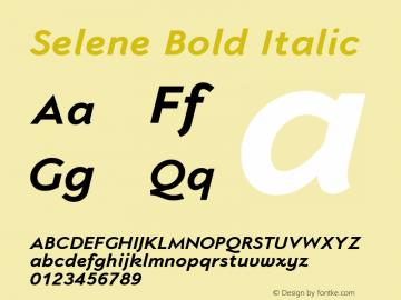 Selene-BoldItalic 1.650图片样张