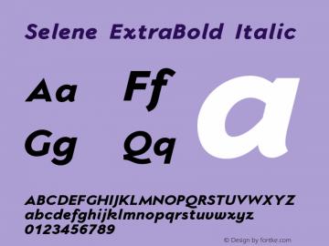 Selene-ExtraBoldItalic 1.650图片样张