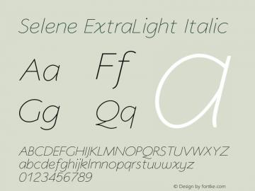 Selene-ExtraLightItalic 1.650图片样张