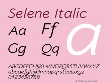 Selene-Italic 1.650图片样张