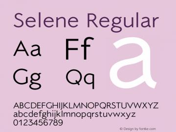 Selene-Regular 1.650图片样张