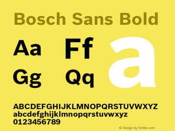 BoschSans-Bold Version 1.000;PS 2.00;hotconv 1.0.38图片样张