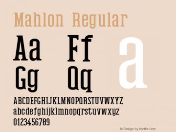 Mahlon-Regular Version 1.0图片样张