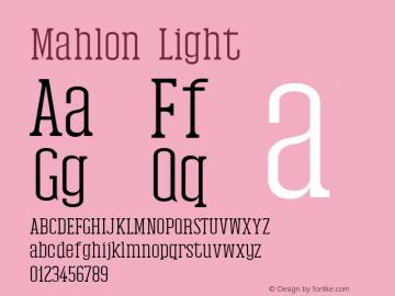Mahlon Light Version 1.0图片样张