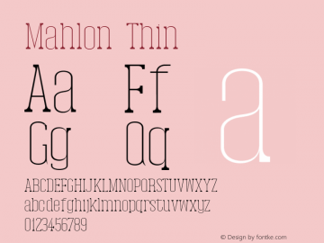 Mahlon-Thin Version 1.0图片样张