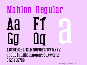 Mahlon Regular Version 1.0图片样张