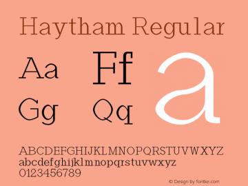 Haytham Regular Version 1.0图片样张