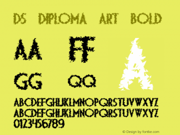DS Diploma Art Bold 1999; 1.0, initial release Font Sample