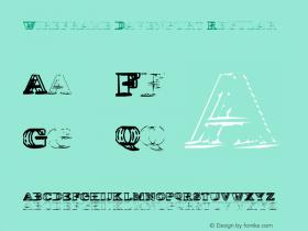 Wireframe Davenport Regular 2.134 Font Sample
