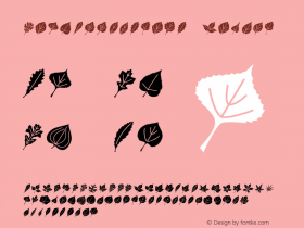 LeafAssortment Medium Version 001.000 Font Sample