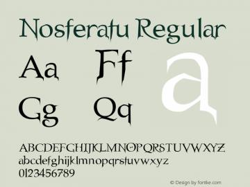 Nosferatu Regular Unknown Font Sample