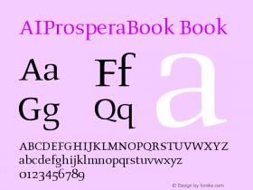 AIProsperaBook Book Version 001.001 Font Sample