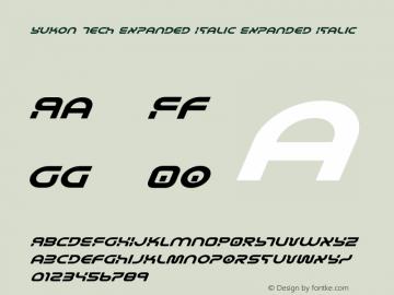 Yukon Tech Expanded Italic Version 2.0; 2019图片样张