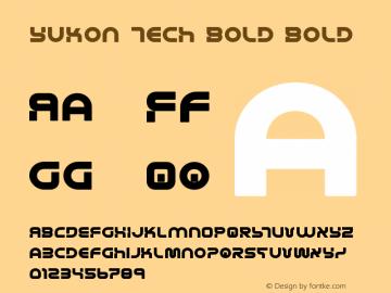 Yukon Tech Bold Version 2.0; 2019图片样张