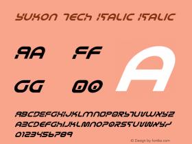 Yukon Tech Italic Version 2.0; 2019图片样张