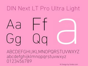 DINNextLTPro-UltraLight Version 1.400图片样张