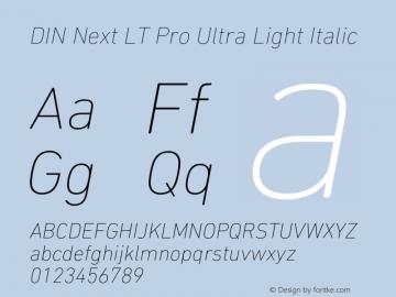 DINNextLTPro-UltraLightIt Version 1.400图片样张