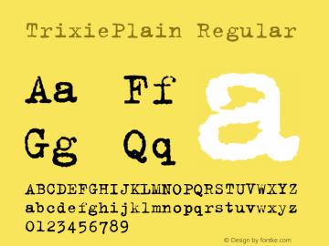 TrixiePlain Regular Altsys Fontographer 4.0.3 15/3/95 Font Sample