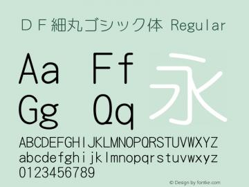 DF細丸ゴシック体 Regular Version 2.00 Font Sample