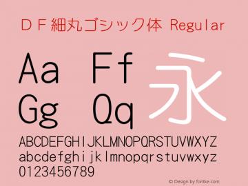 DF細丸ゴシック体 Regular Version 3.100 Font Sample