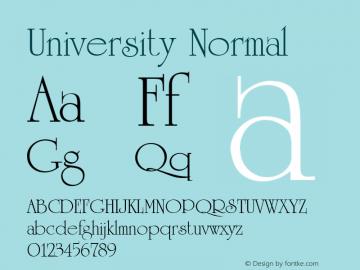 University Normal 001.000 Font Sample