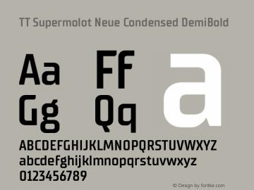 TT Supermolot Neue Condensed Font,TT Supermolot Neue Condensed Dm