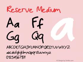 Reserve Medium Version 001.000图片样张