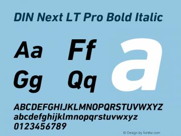 DINNextLTPro-BoldItalic Version 1.200;PS 001.002;hotconv 1.0.38图片样张