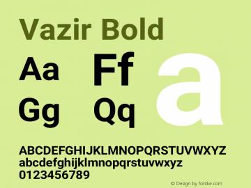 Vazir Bold Version 19.1.0图片样张