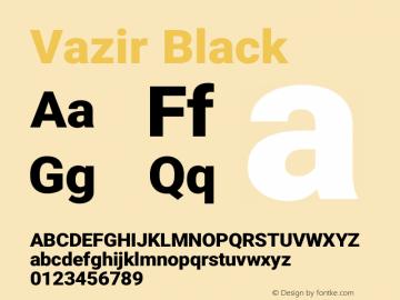 Vazir Black Version 19.1.0图片样张