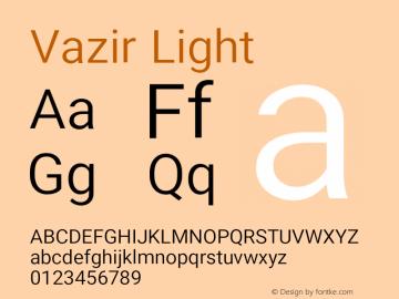 Vazir Light Version 19.1.0图片样张