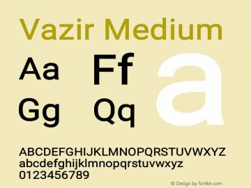 Vazir Medium Version 19.1.0图片样张