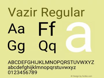 Vazir Version 19.1.0图片样张