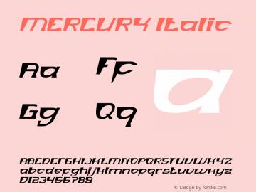 MERCURY Italic Version 1.00;January 4, 2019;FontCreator 11.5.0.2430 64-bit图片样张