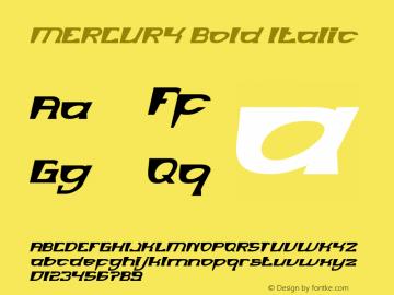 MERCURY Bold Italic Version 1.00;January 4, 2019;FontCreator 11.5.0.2430 64-bit图片样张