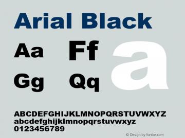 Arial Black Version 5.21a图片样张
