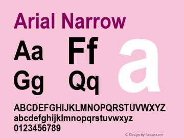 Arial Narrow Bold Version 2.37m图片样张