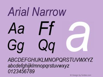 Arial Narrow Italic Version 2.37m图片样张
