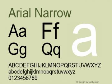Arial Narrow Version 2.37m图片样张