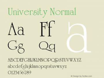 University Normal 1.0 Thu May 27 21:21:32 1993 Font Sample