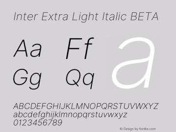 Inter Extra Light Italic BETA 3.3;20b39288a图片样张